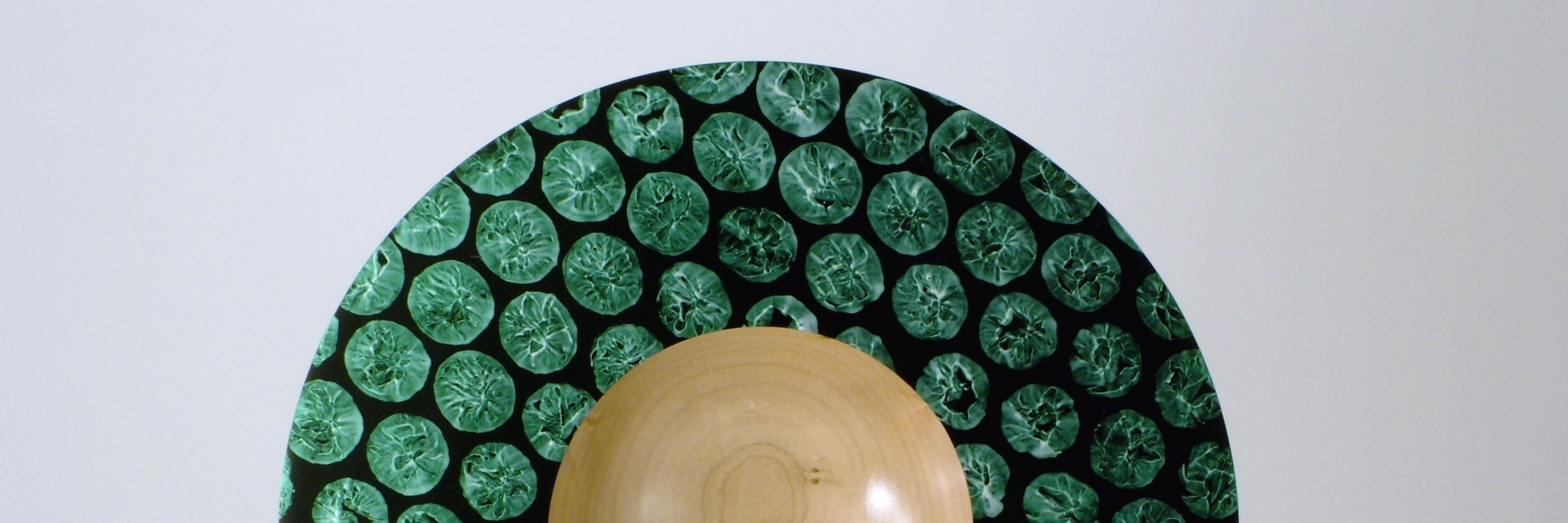 Detail View of the  Green Bubble Bowl