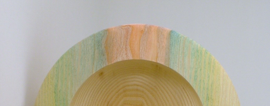 Detail View of the  Dyed Limed Bowl