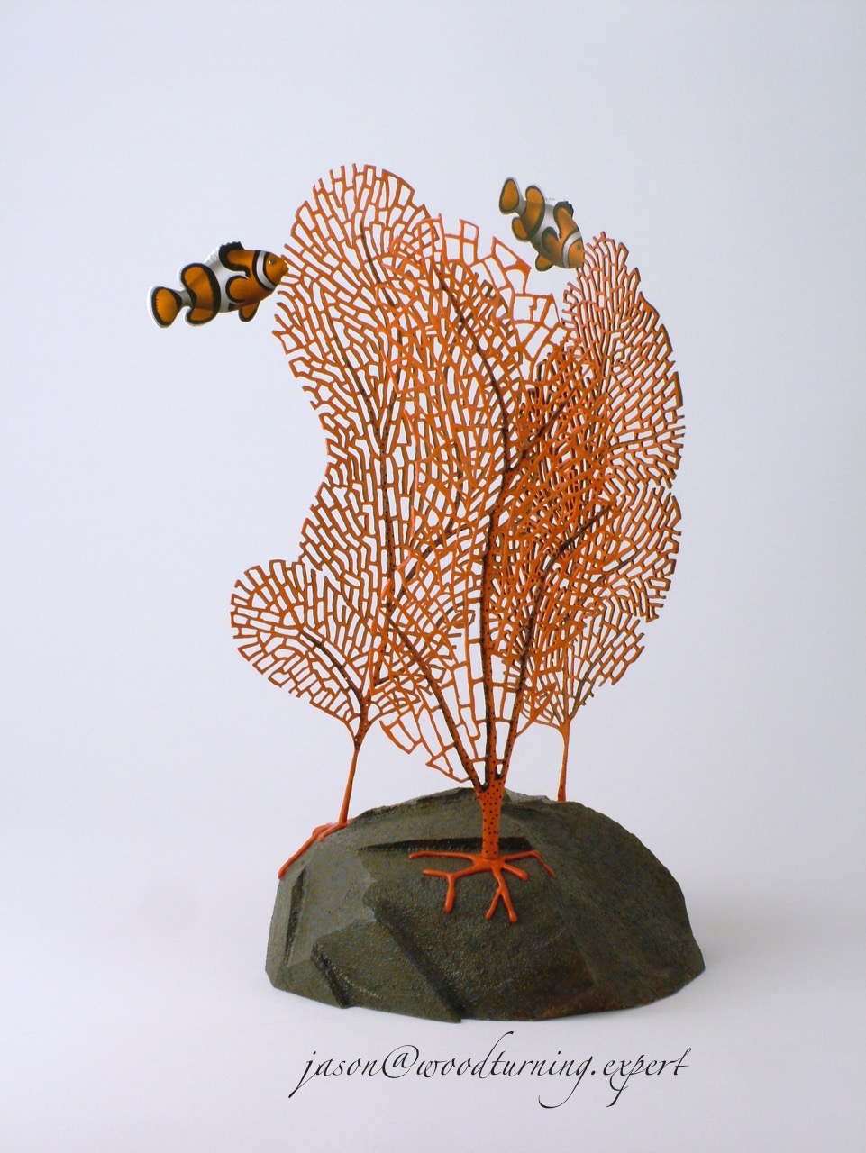 Gorgonian woodturned Coral Sculpture