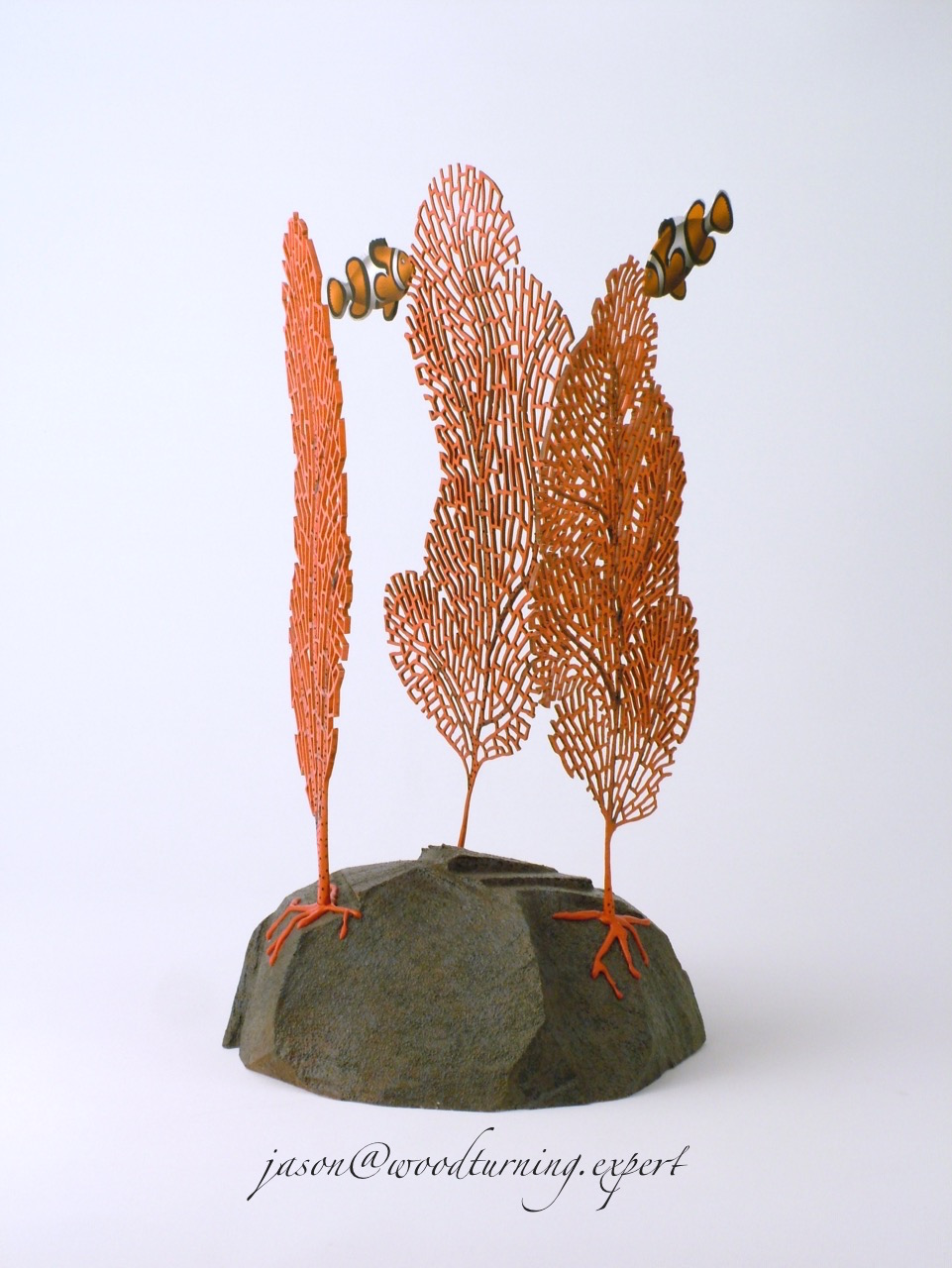 woodturned coral sculpture from a different viewpoint