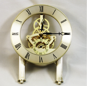 a Skeleton clock in Gold finish